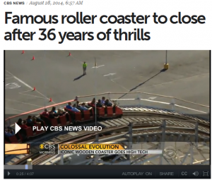 famous roller coaster to close after 36 years of thrills